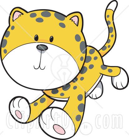 Cheetah clipart cute baby.  or leopard cub