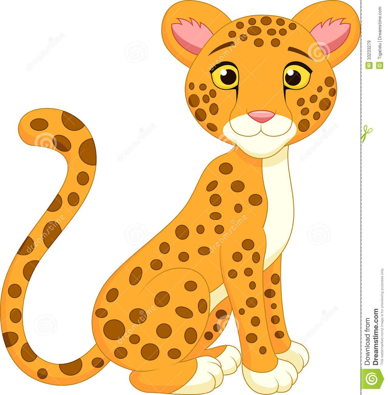 Cute free clip art. Jaguar clipart cartoon