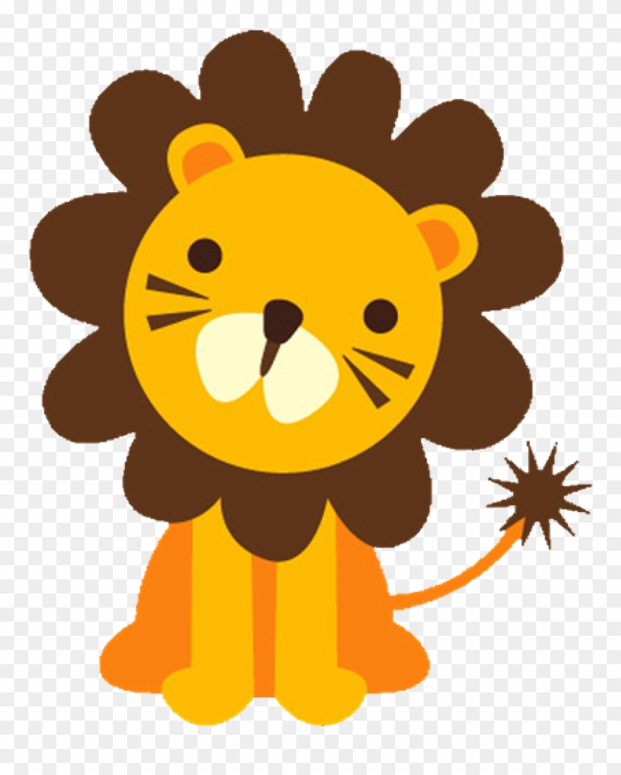 Lion baface with ba. Lions clipart baby boy