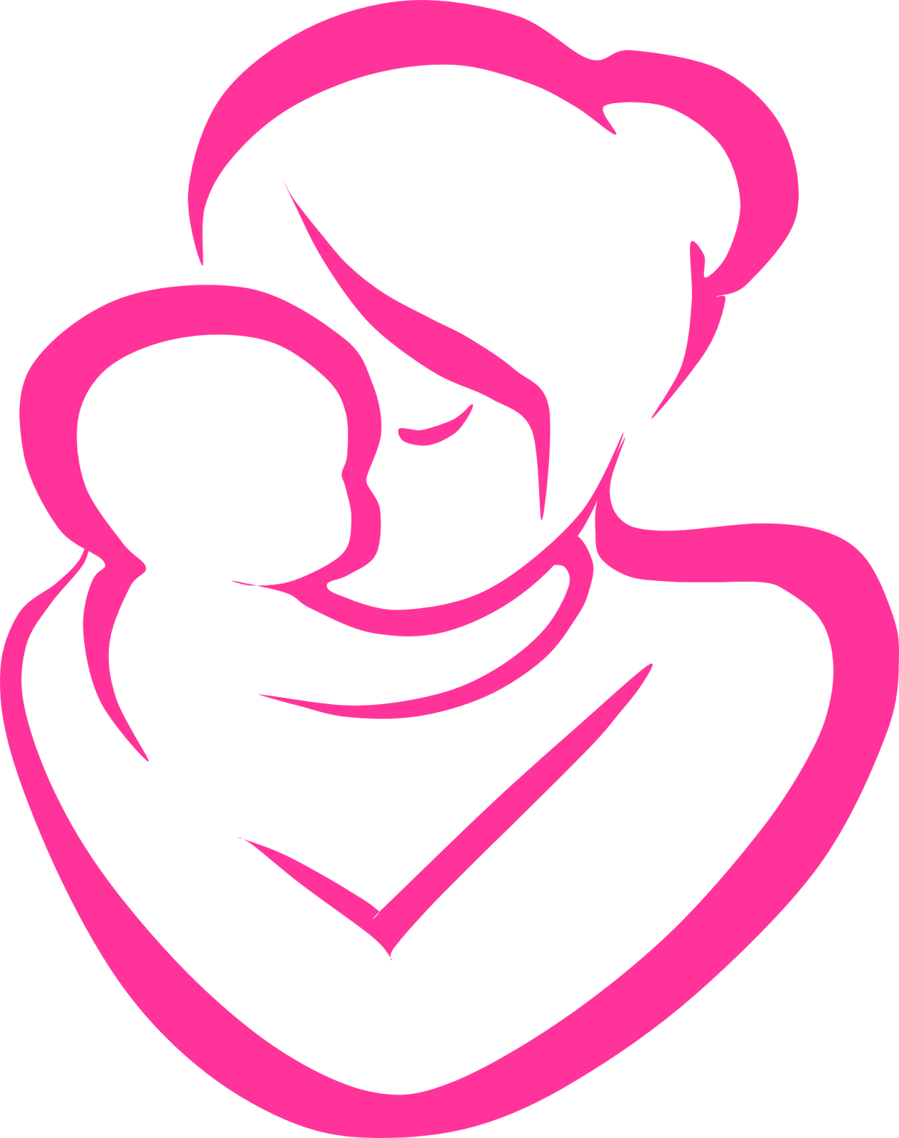 Clipart reading mom baby. Mother and child free