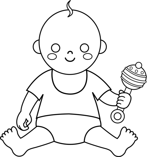 Free download clip art. Baby clipart outline
