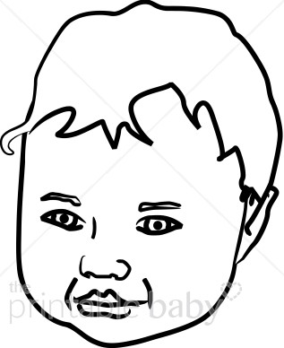 Clipart baby faces free