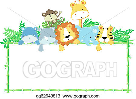 Eps illustration cute baby. Babies clipart picture frame