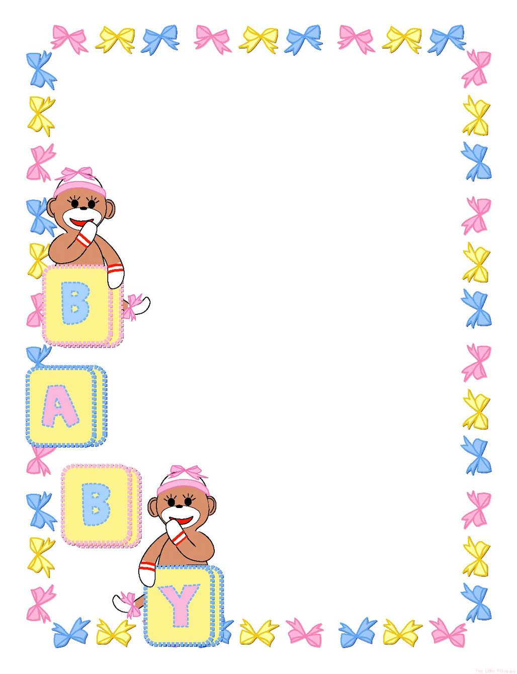 Girl template pages new. Baby clipart frame