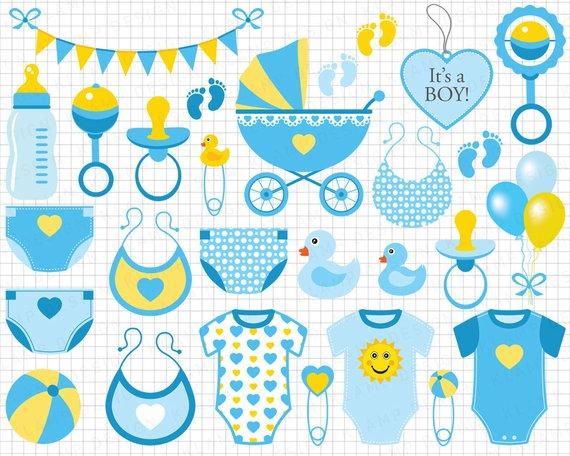 Baby boy blue clip. Babies clipart scrapbook
