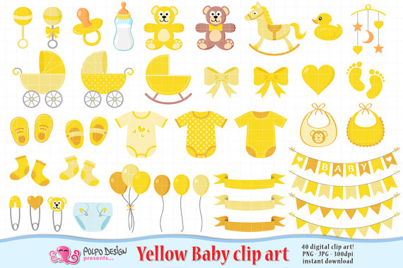 Baby clipart scrapbook. Yellow clip art boy