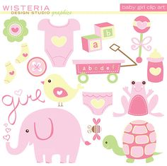 Girl . Baby clipart scrapbook