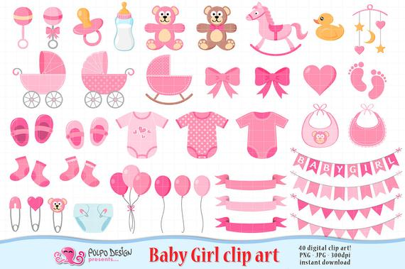 Baby girl its a. Babies clipart scrapbook