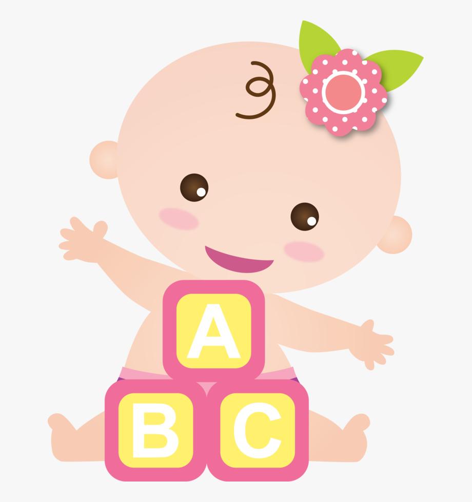 Scrapbook cute girl . Clipart baby baby shower