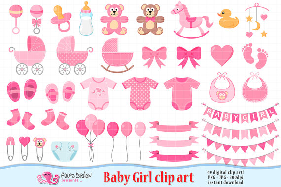 Babies clipart scrapbook. Baby girl its a