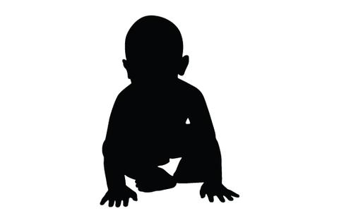 Child clip art at. Baby clipart silhouette