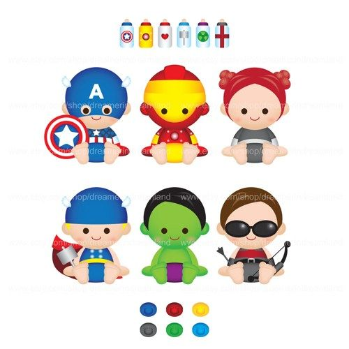 Superhero Super Baby Boy Girl II PNG Clipart Digital File