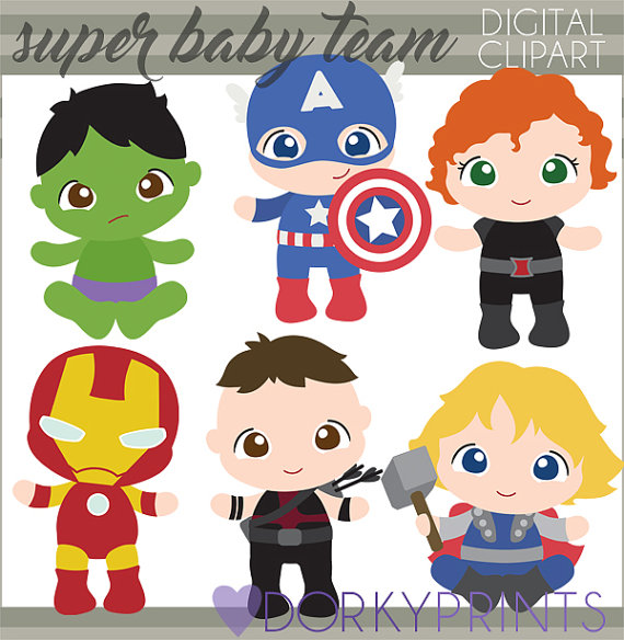 Babies personal and limited. Baby clipart superhero