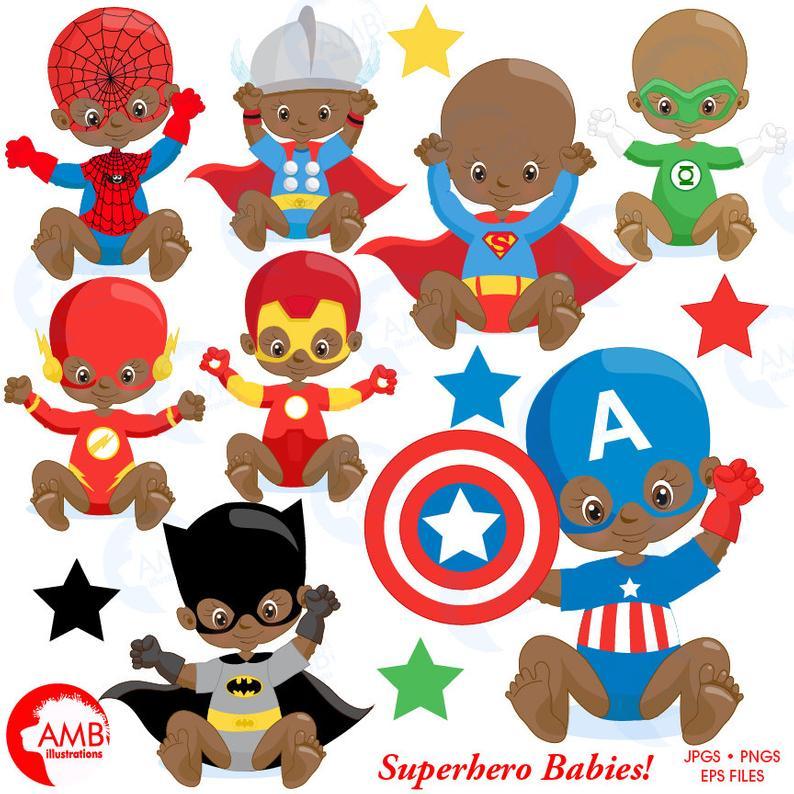Babies super hero birthday. Baby clipart superhero