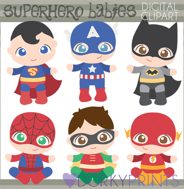 Baby clipart superhero. Personal and limited commercial
