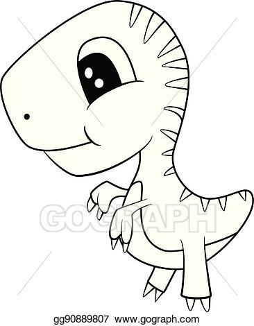 Babies clipart t rex. Vector cute black and