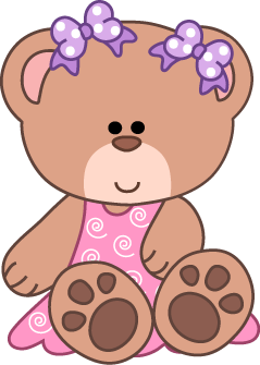 Teddy school plush . Bear clipart baby bear