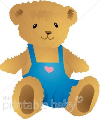 Bear clipart boy. Teddy baby