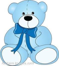 Bears clipart baby bear. Blue teddy pinterest clip