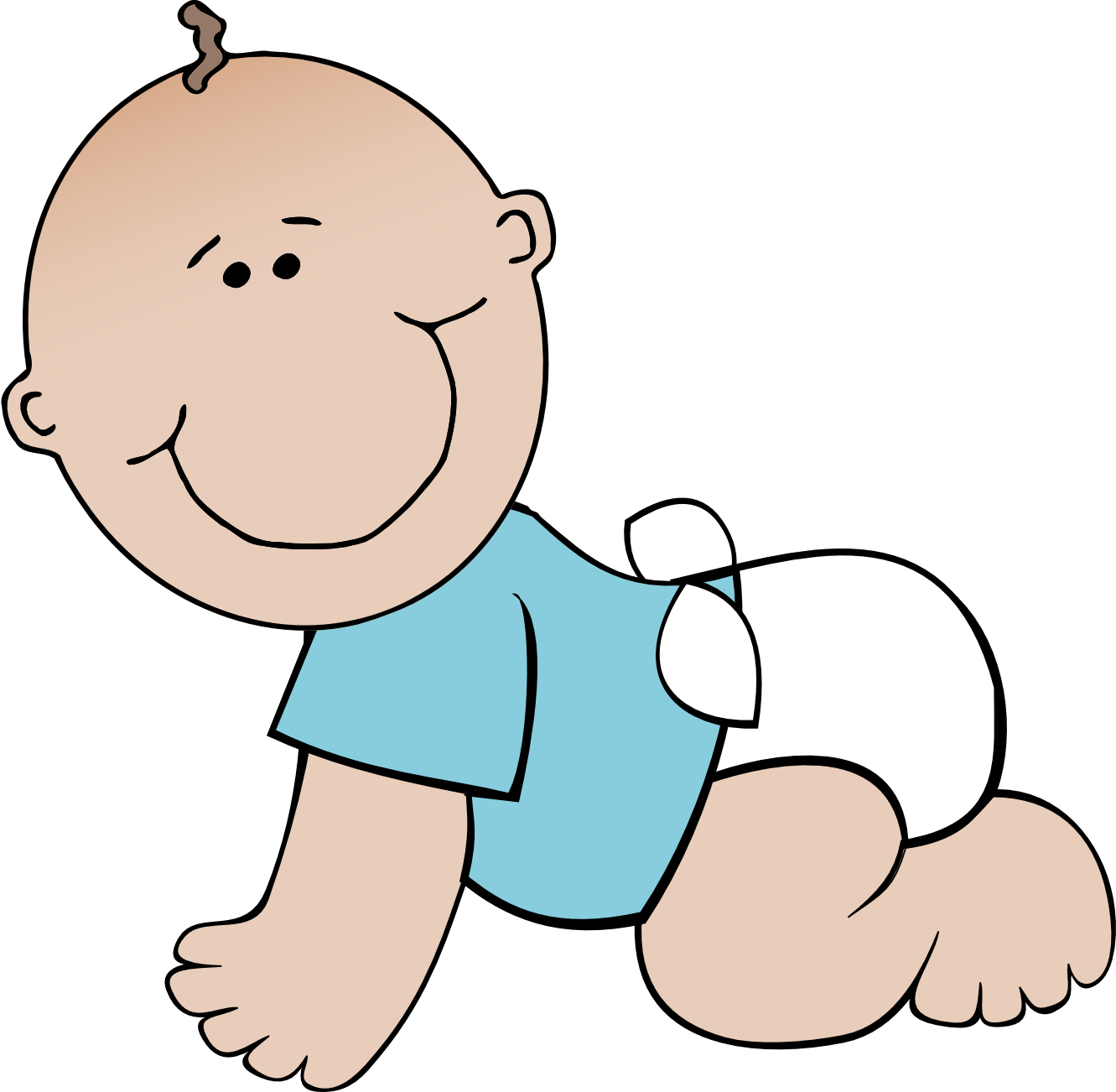 Baby transparent background clip. Infant clipart animated