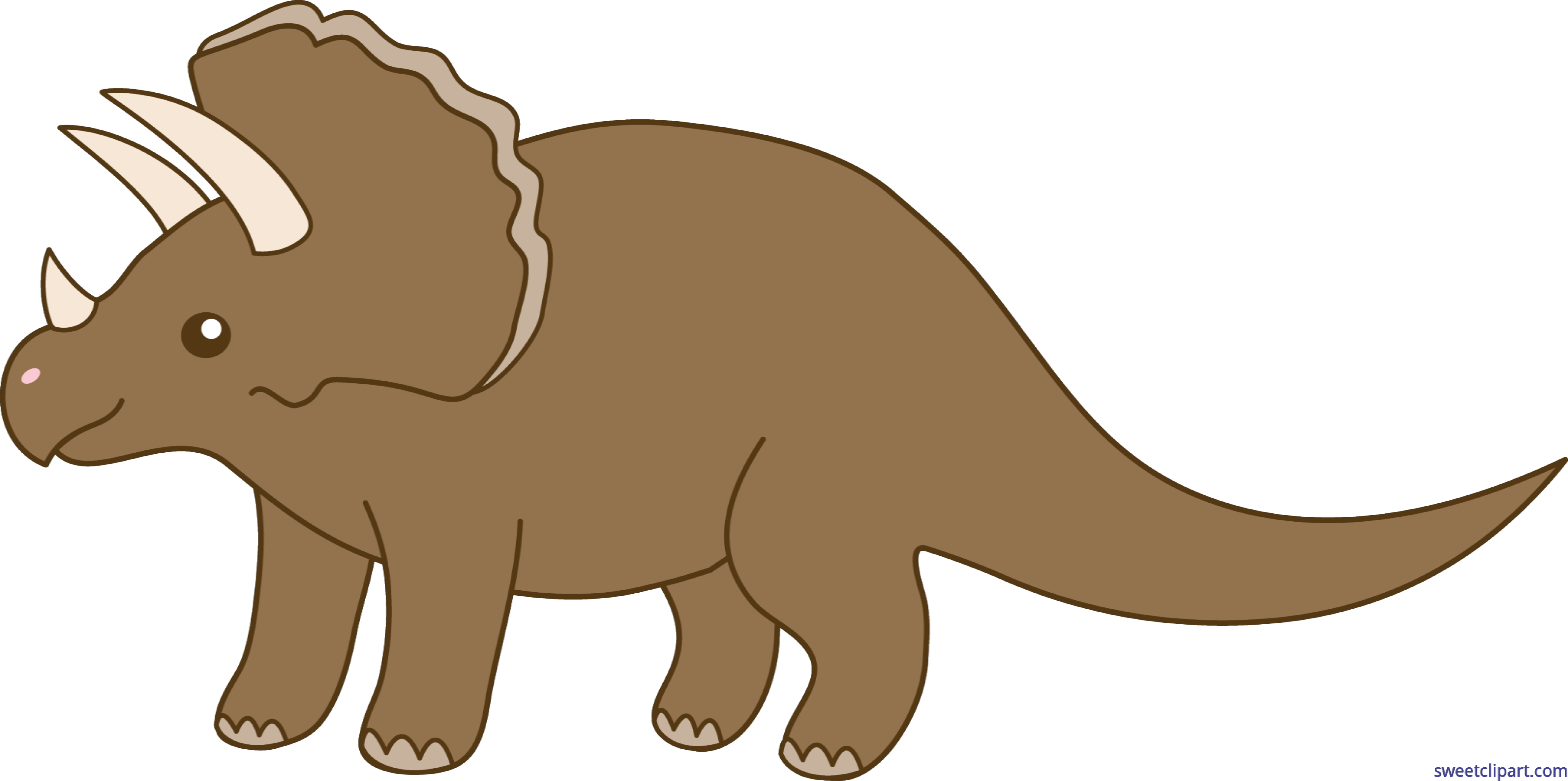 Triceratops clip art sweet. Dinosaur clipart scene