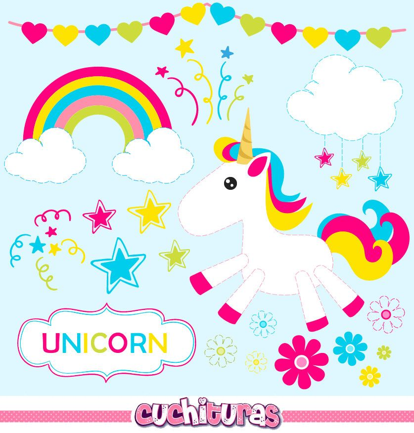 Baby clipart unicorn. Commercial use unicorns vector