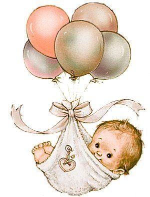 Babies clipart vintage. Feliz cumplea os richo