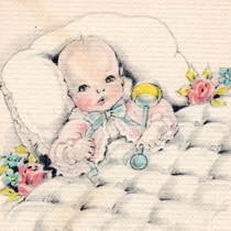 Babies clipart vintage. Free baby clip art