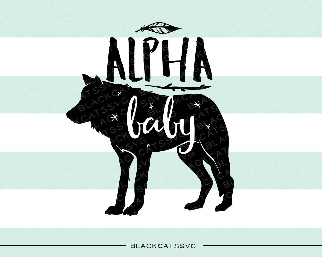 Alpha baby svg file. Boho clipart wolf