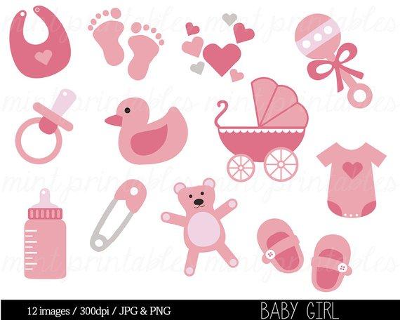 Clipart baby baby shower. Girl clip art