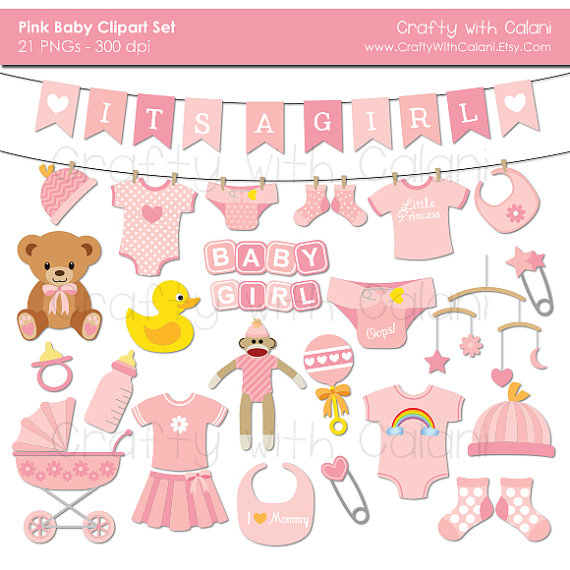 Graphics girl teddy bear. Baby clipart baby shower