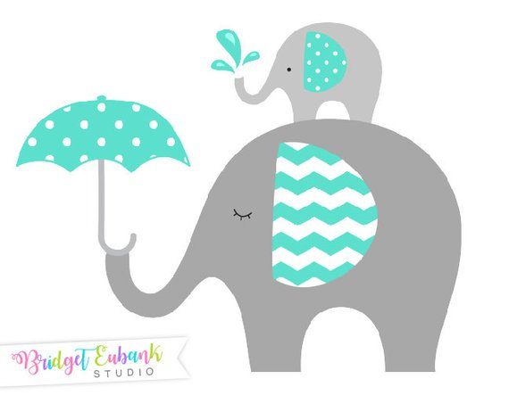 Elephant clip art commercial. Baby clipart baby shower