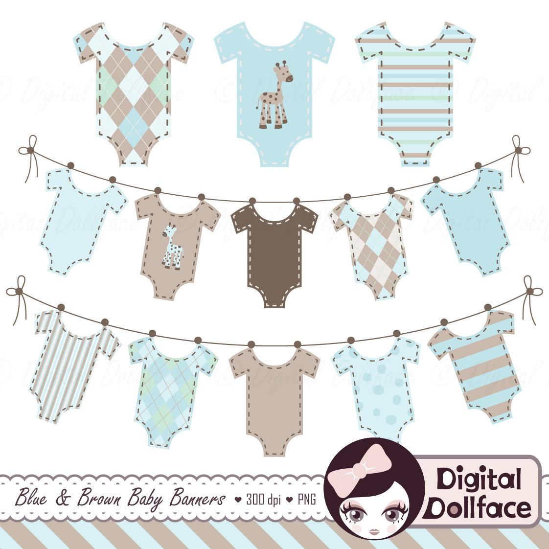Baby clipart banner. Clothes boy clip art