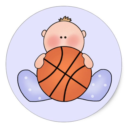Baby clipart basketball. Lil boy classic round