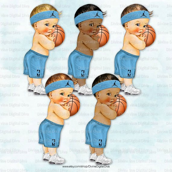 Little prince player blue. Baby clipart basketball