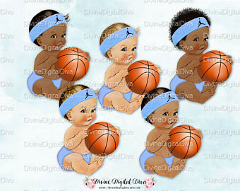 Baby clipart basketball. Boy etsy vintage sitting