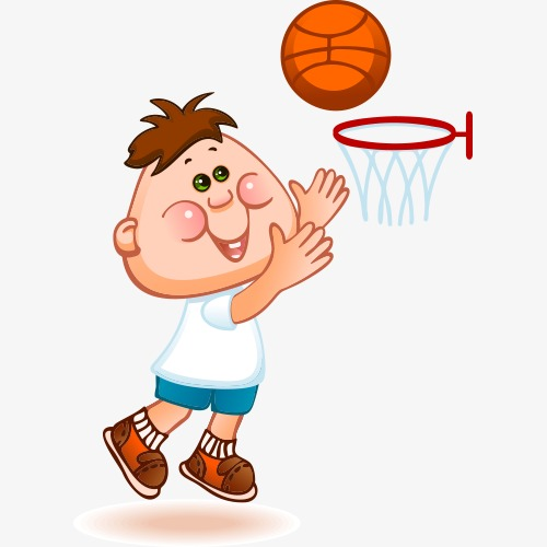 Baby clipart basketball. Cartoon motion lovely png
