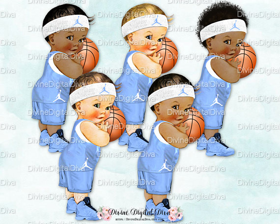 Little Prince Vintage Baby Boy Basketball