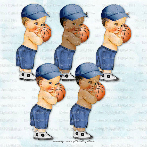 Baby clipart basketball. Little prince vintage boy