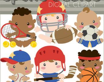 Sports clip art baseball. Baby clipart basketball