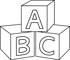 Image result for baby. Blocks clipart black and white