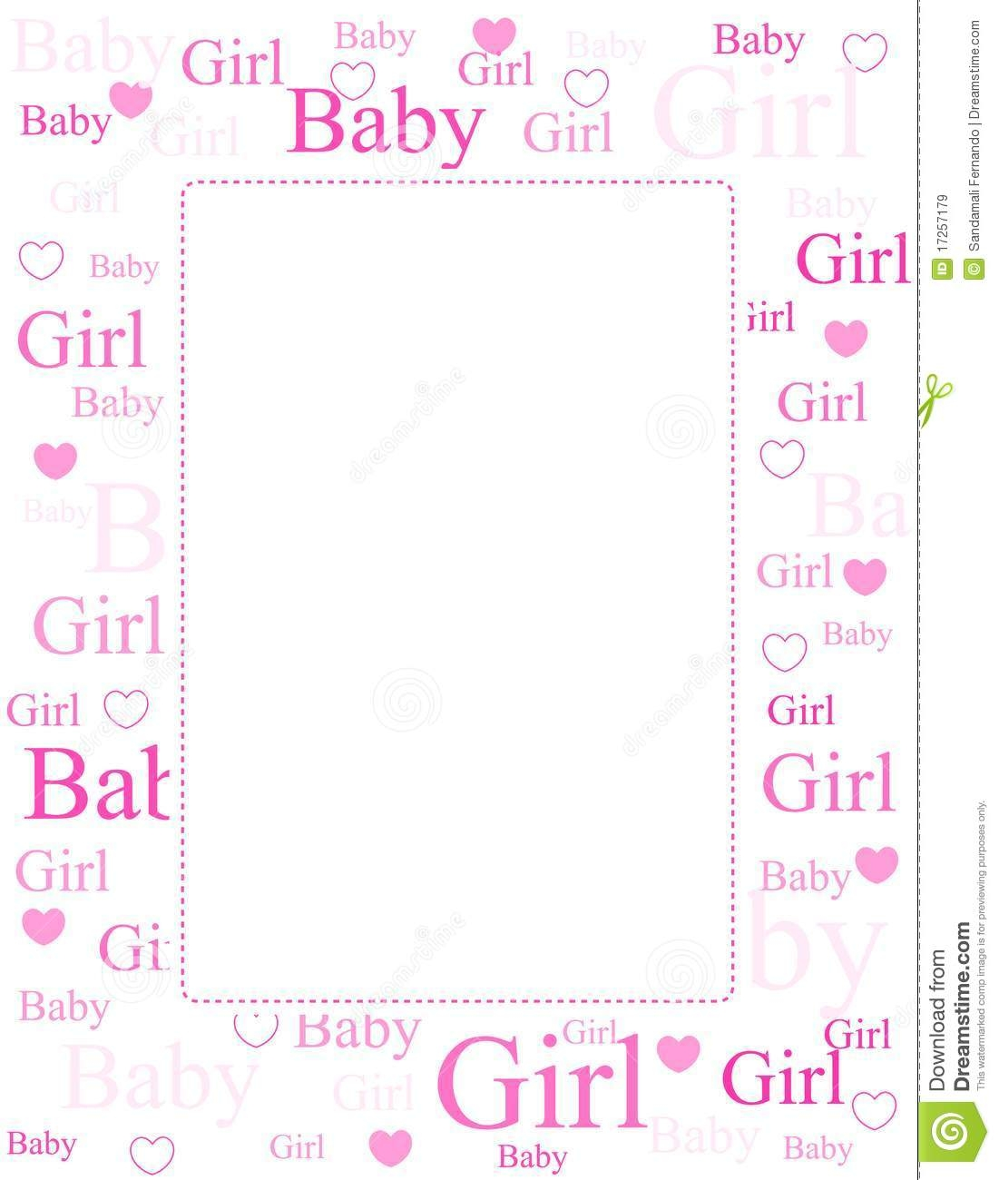 Clipground com images girl. Baby clipart border