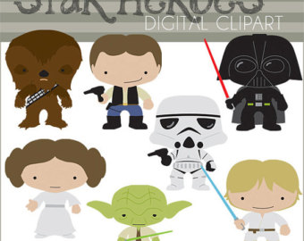 Chewbacca etsy star heroes. Baby clipart darth vader