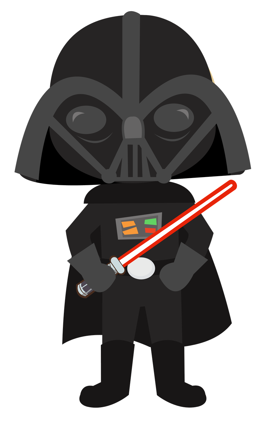Baby clipart darth vader. Star wars minus felt