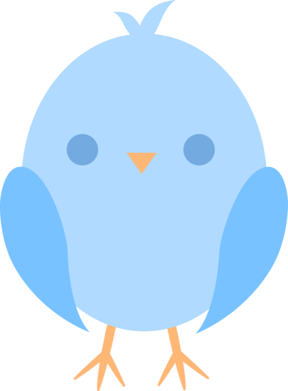 Baby clipart easter. Cute little blue chick
