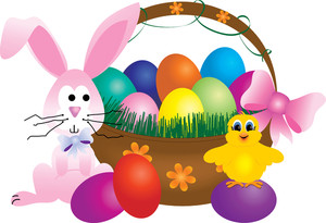 Baby clipart easter. Free basket image illustration
