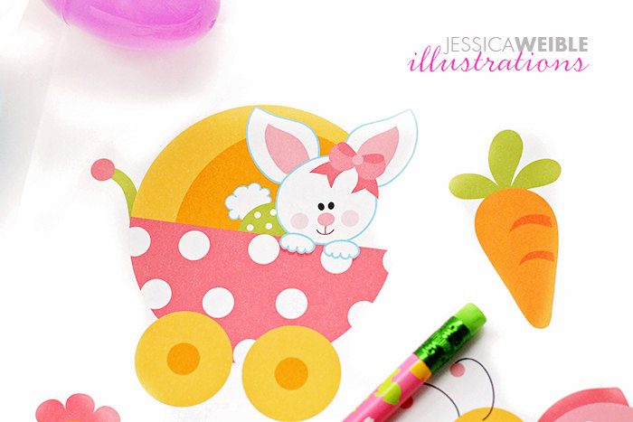 Baby clipart easter. Bunny girls cute digital