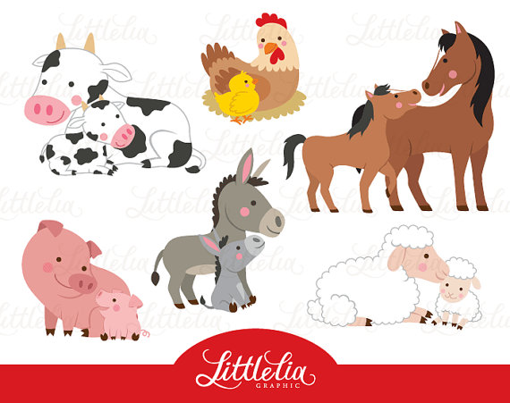Baby clipart family. Farm mom and