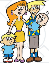 Illustration of a happy. Baby clipart family