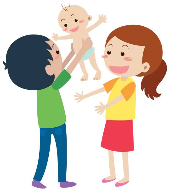 collection of with. Baby clipart family